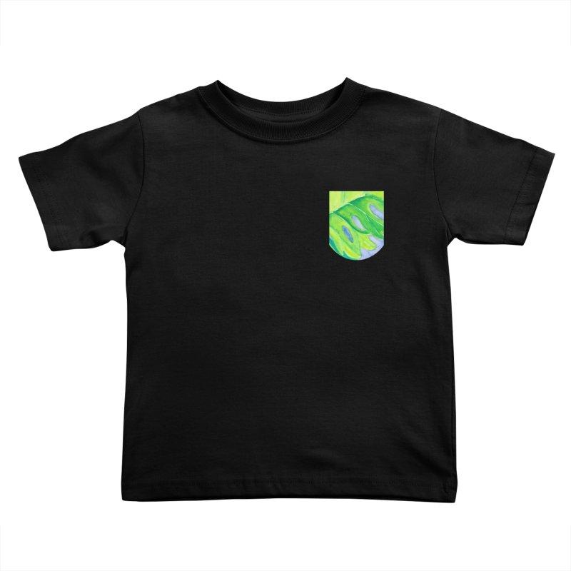 Lush Leaf Faux Pocket (Women/Men/Kids) Kids Toddler T-Shirt by Rachel Mambach Art Shop