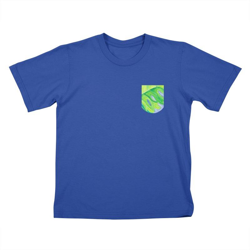 Lush Leaf Faux Pocket (Women/Men/Kids) Kids T-Shirt by Rachel Mambach Art Shop