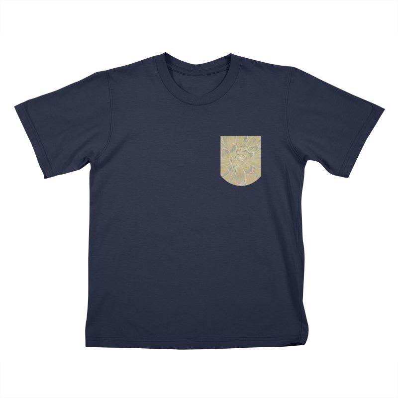 Super Succulent Faux Pocket (Women/Men/Kids) Kids T-Shirt by Rachel Mambach Art Shop