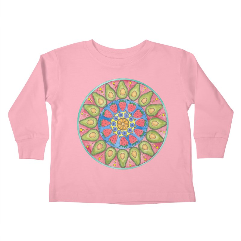 Fruit Time (Women/Kids) Kids Toddler Longsleeve T-Shirt by Rachel Mambach Art Shop