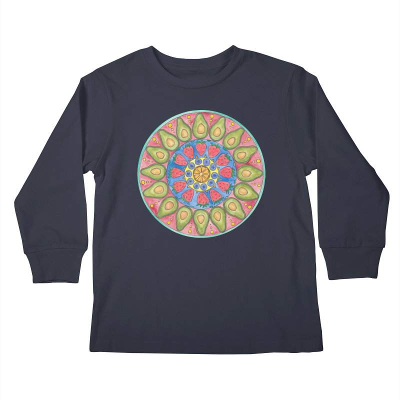 Fruit Time (Women/Kids) Kids Longsleeve T-Shirt by Rachel Mambach Art Shop