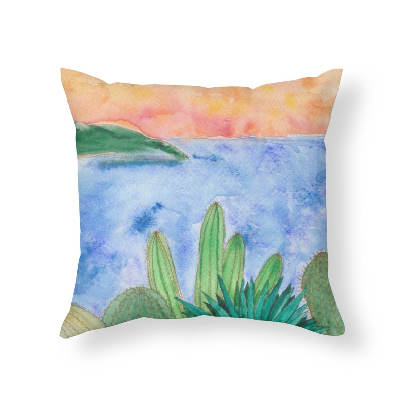 Baha Home Throw Pillow by Rachel Mambach Art Shop