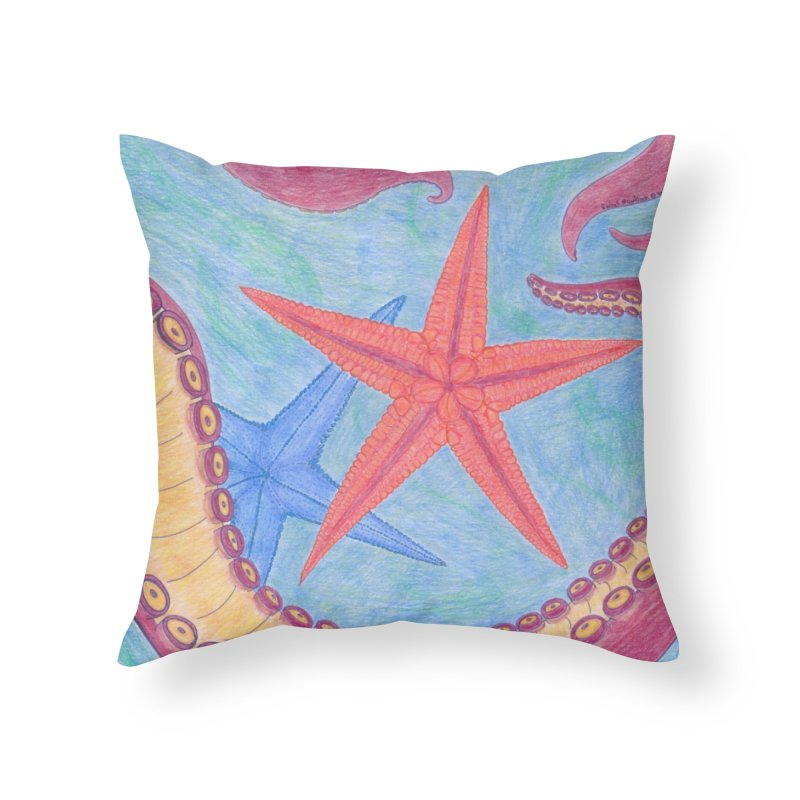 Twisted Tentacle Home Throw Pillow by Rachel Mambach Art Shop