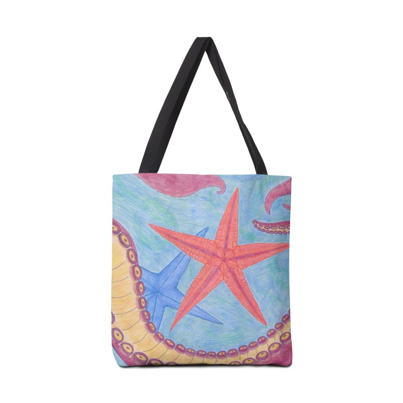 Twisted Tentacle Accessories Tote Bag Bag by Rachel Mambach Art Shop