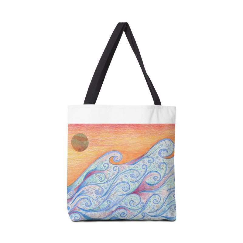 Sunset Surf Accessories Tote Bag Bag by Rachel Mambach Art Shop