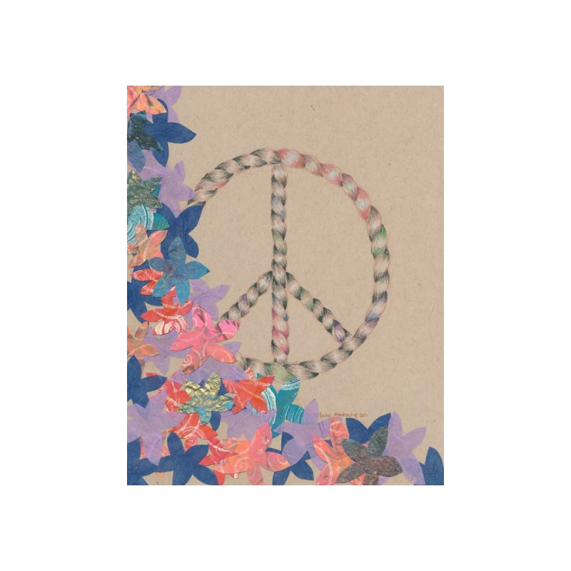 Peace and Flora Accessories Bag by Rachel Mambach Art Shop