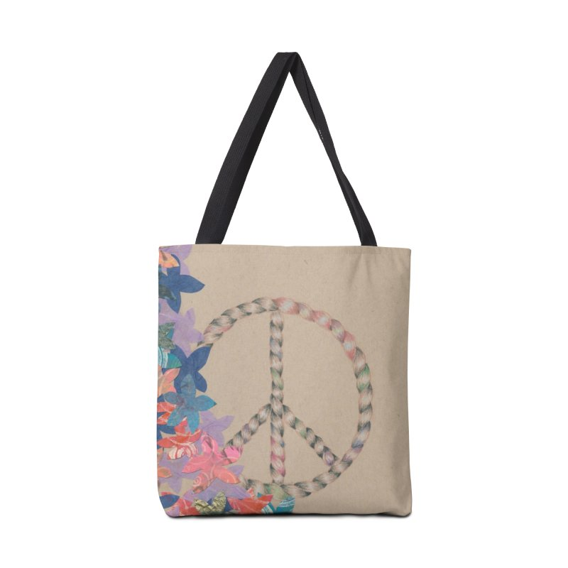 Peace and Flora Accessories Tote Bag Bag by Rachel Mambach Art Shop