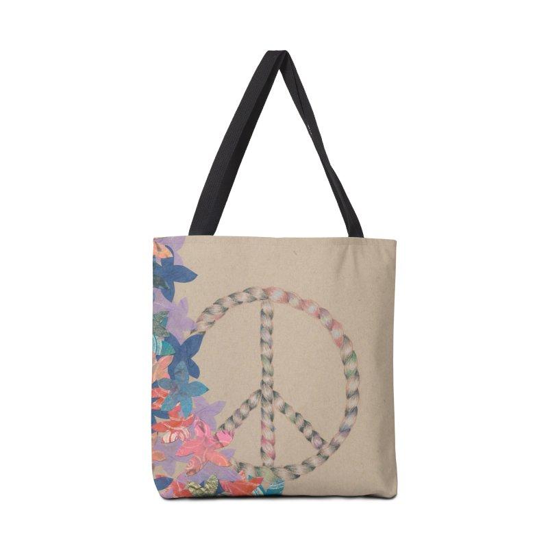 Peace and Flora Accessories Bag by Rachel Mambach Art Shop