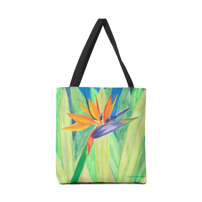 Bird of Paradise Accessories Tote Bag Bag by Rachel Mambach Art Shop