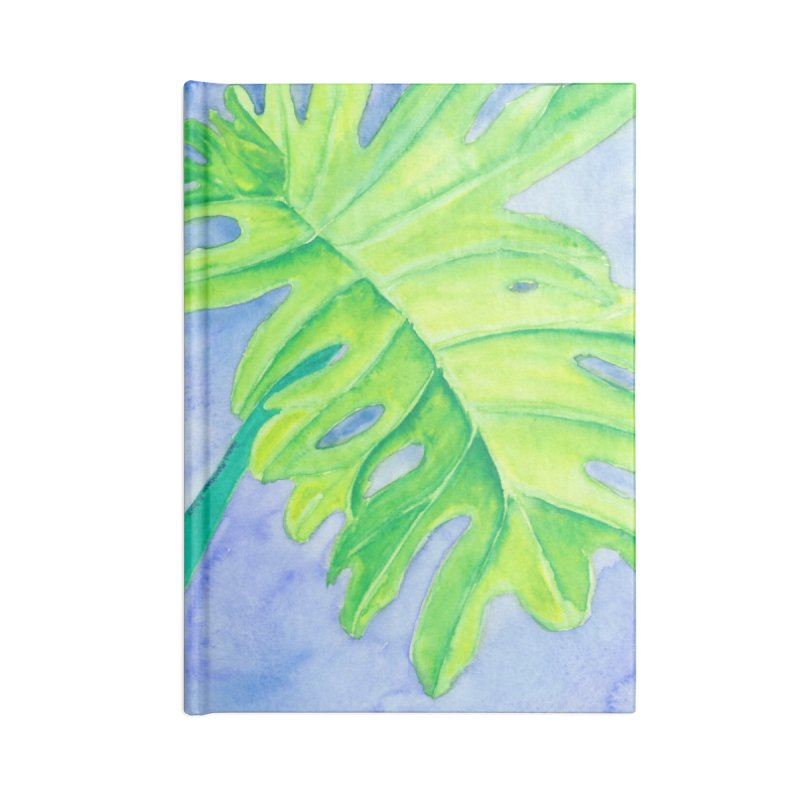Lush Leaf Accessories Lined Journal Notebook by Rachel Mambach Art Shop