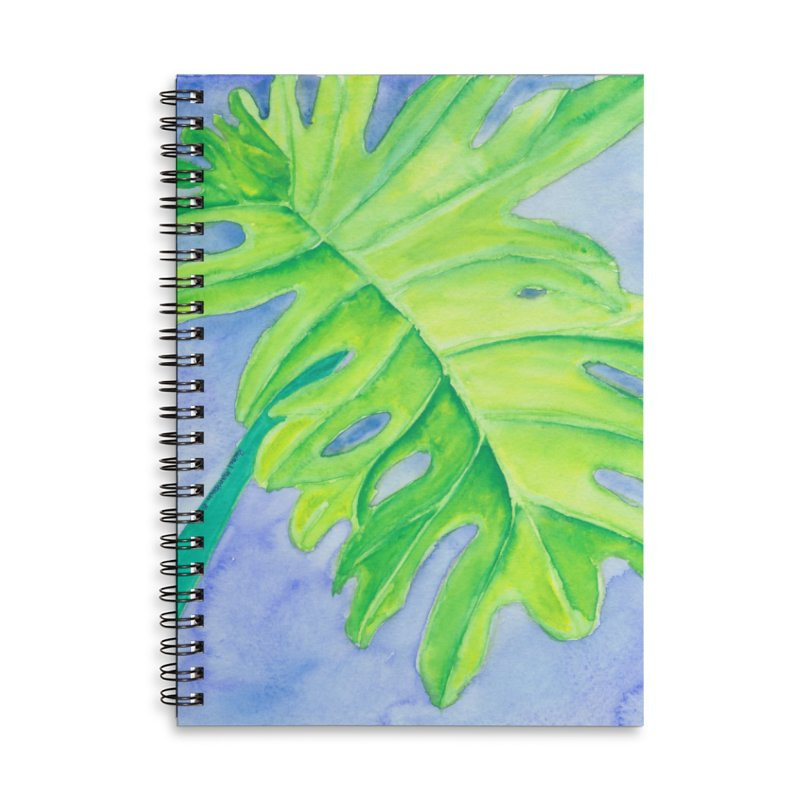 Lush Leaf Accessories Lined Spiral Notebook by Rachel Mambach Art Shop