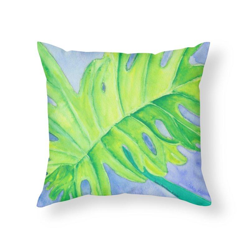 Lush Leaf Home Throw Pillow by Rachel Mambach Art Shop