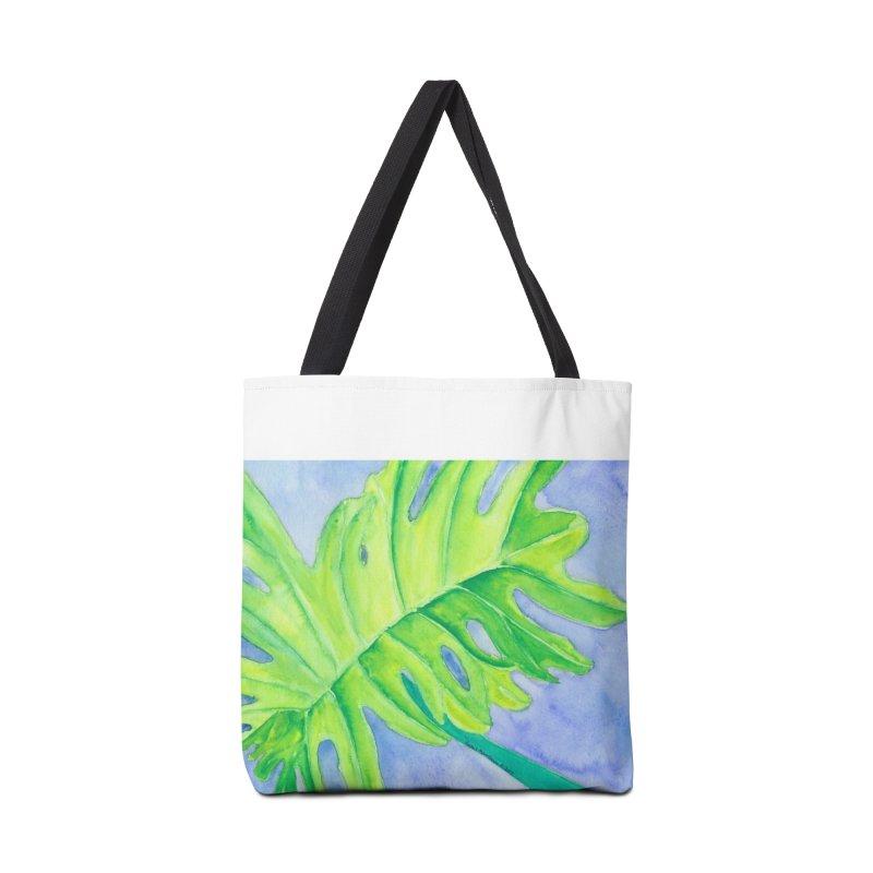 Lush Leaf Accessories Bag by Rachel Mambach Art Shop