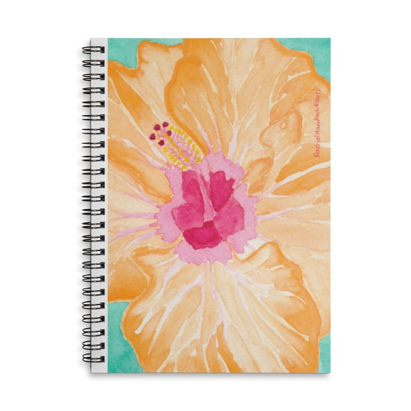 Hibiscus Accessories Lined Spiral Notebook by Rachel Mambach Art Shop