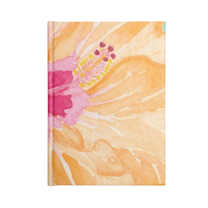 Hibiscus Accessories Blank Journal Notebook by Rachel Mambach Art Shop