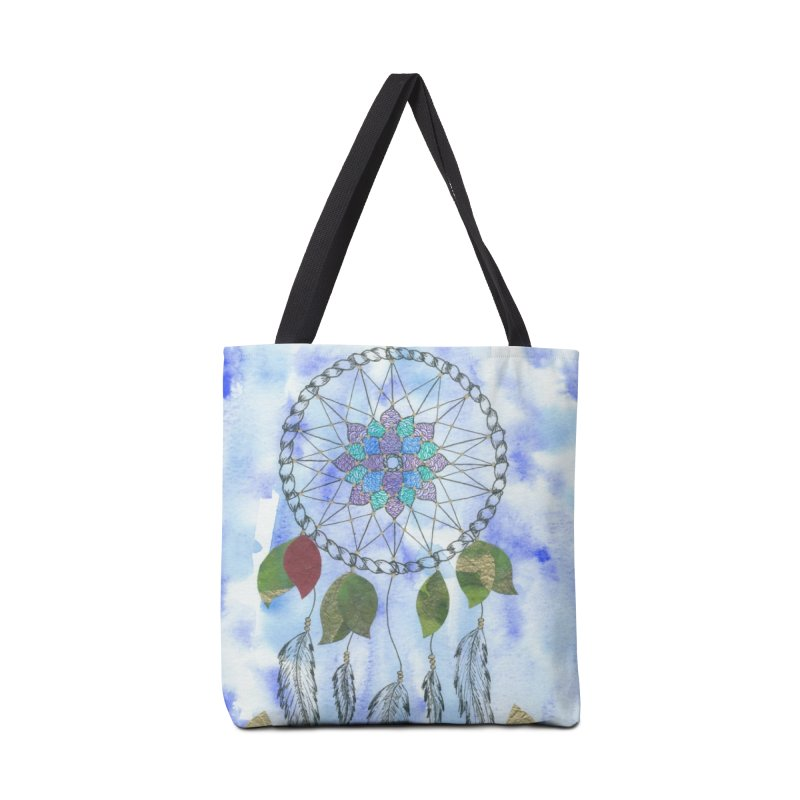 Floating Dream Catcher Accessories Tote Bag Bag by Rachel Mambach Art Shop