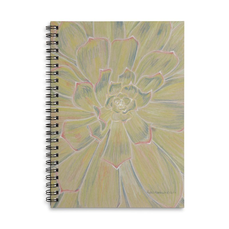 Super Succulent Accessories Lined Spiral Notebook by Rachel Mambach Art Shop