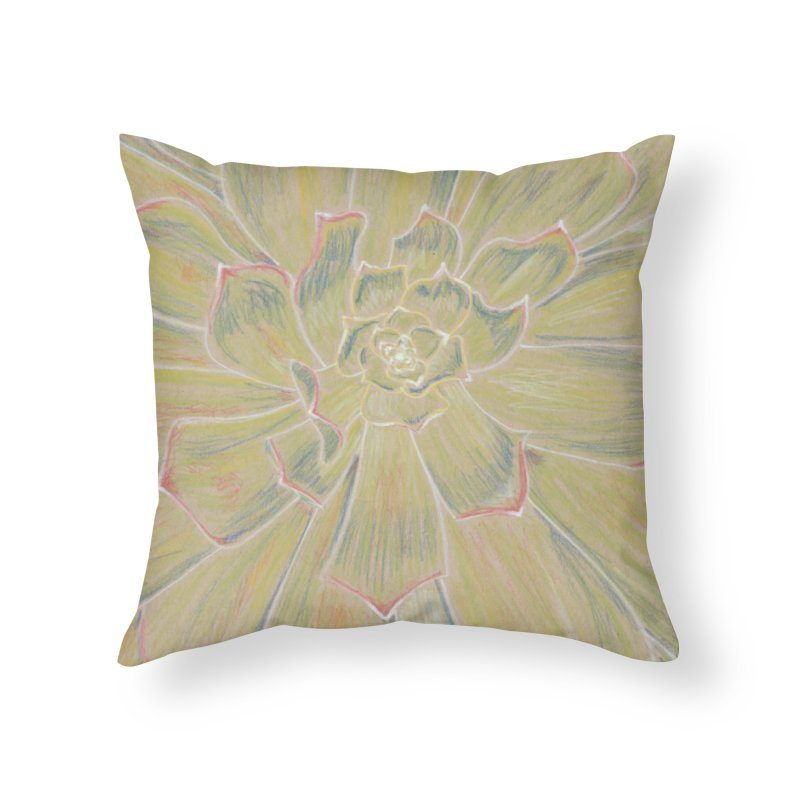 Super Succulent Home Throw Pillow by Rachel Mambach Art Shop