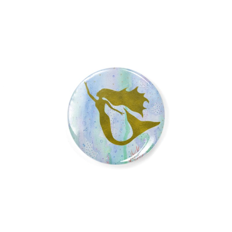 Miracle Mermaid Accessories Button by Rachel Mambach Art Shop