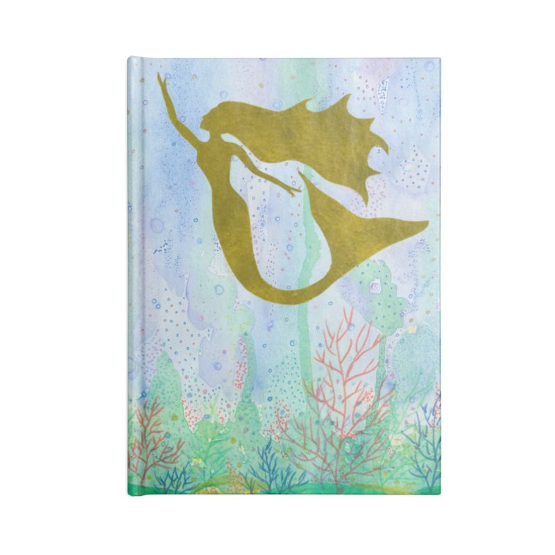 Miracle Mermaid Accessories Blank Journal Notebook by Rachel Mambach Art Shop