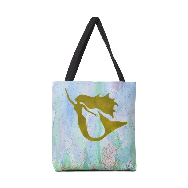 Miracle Mermaid Accessories Tote Bag Bag by Rachel Mambach Art Shop