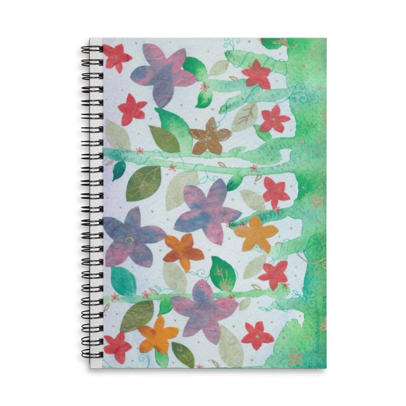 Spring Fling Accessories Lined Spiral Notebook by Rachel Mambach Art Shop