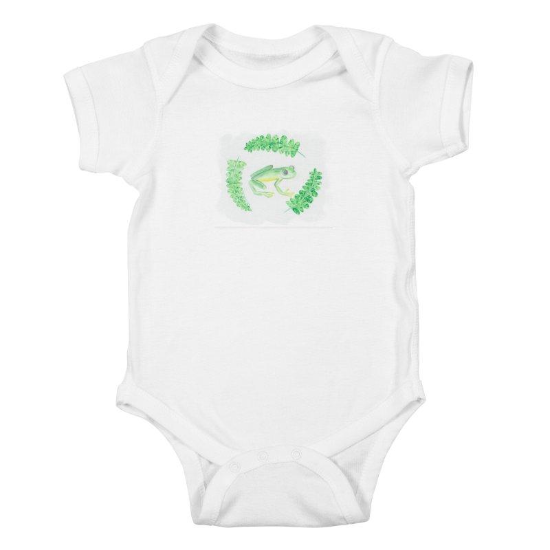 Froggy Friend Kids Baby Bodysuit by Rachel Mambach Art Shop