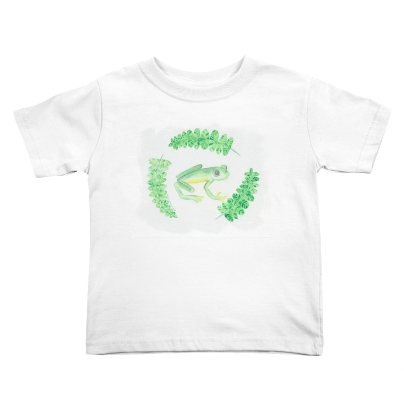 Froggy Friend Kids Toddler T-Shirt by Rachel Mambach Art Shop