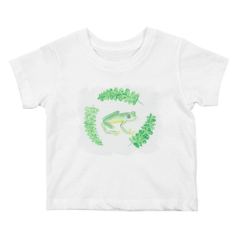 Froggy Friend Kids Baby T-Shirt by Rachel Mambach Art Shop