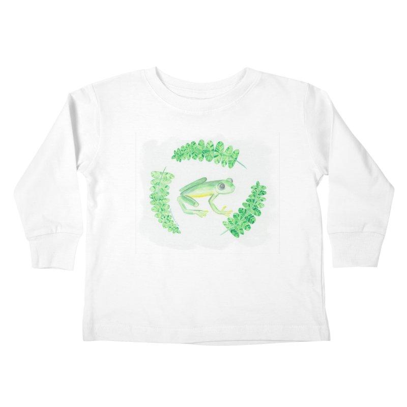 Froggy Friend Kids Toddler Longsleeve T-Shirt by Rachel Mambach Art Shop