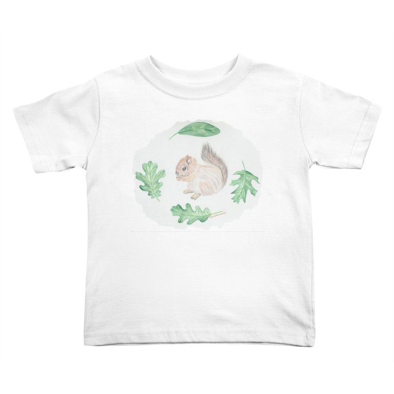 Baby Squirrel Kids Toddler T-Shirt by Rachel Mambach Art Shop