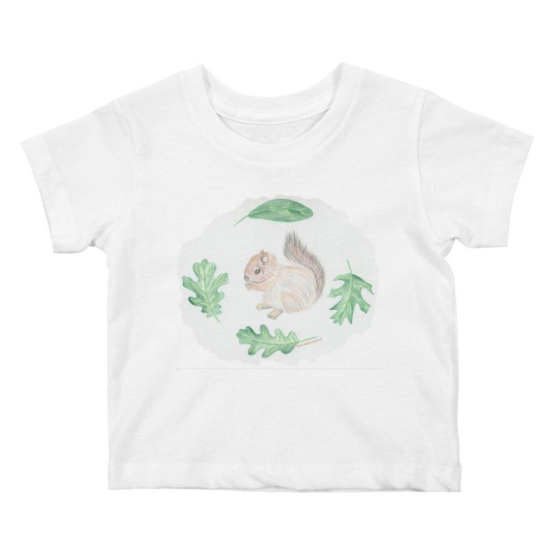 Baby Squirrel Kids Baby T-Shirt by Rachel Mambach Art Shop