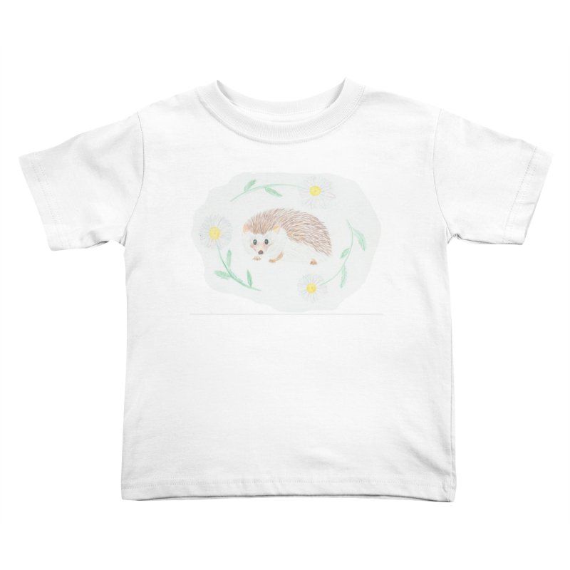 Happy Little Hedgehog Kids Toddler T-Shirt by Rachel Mambach Art Shop