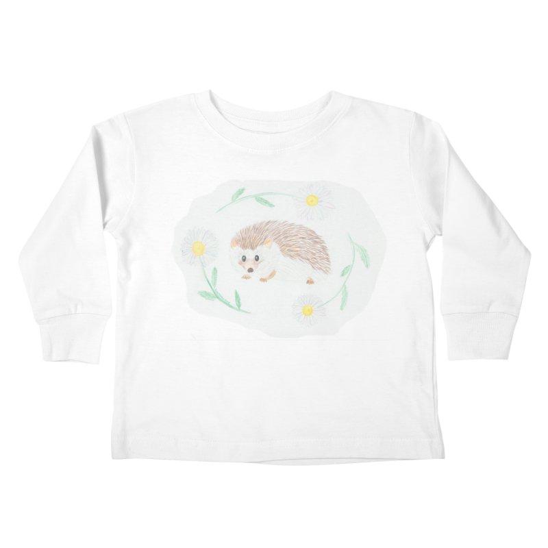 Happy Little Hedgehog Kids Toddler Longsleeve T-Shirt by Rachel Mambach Art Shop