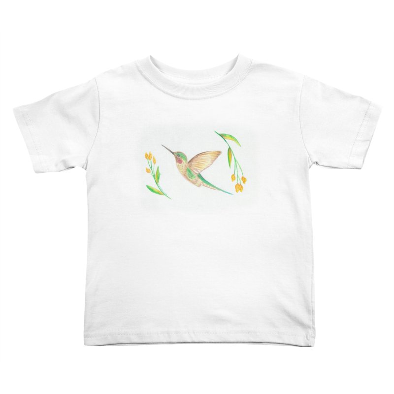Delightful Hummingbird Kids Toddler T-Shirt by Rachel Mambach Art Shop