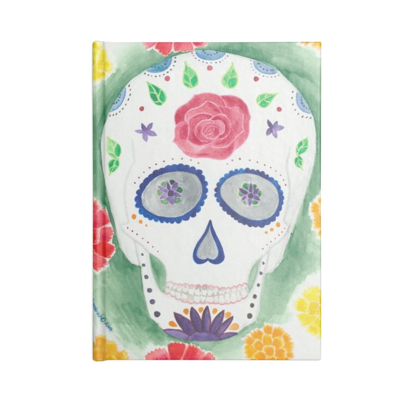 Calavera Accessories Blank Journal Notebook by Rachel Mambach Art Shop
