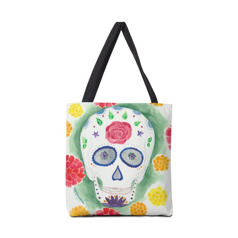 Calavera Accessories Tote Bag Bag by Rachel Mambach Art Shop