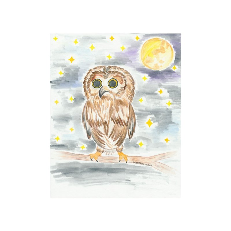 Baby Owl by Rachel Mambach Art Shop