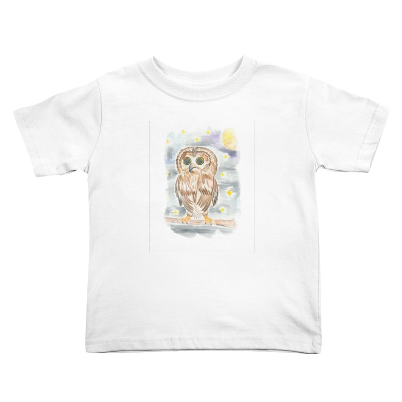 Baby Owl Kids Toddler T-Shirt by Rachel Mambach Art Shop