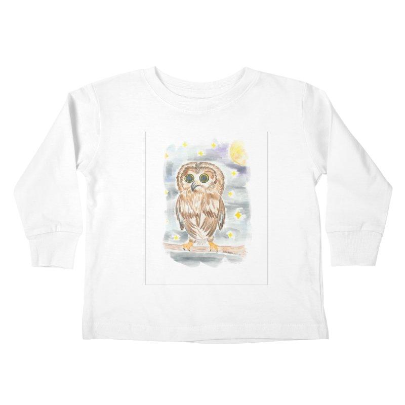 Baby Owl Kids Toddler Longsleeve T-Shirt by Rachel Mambach Art Shop