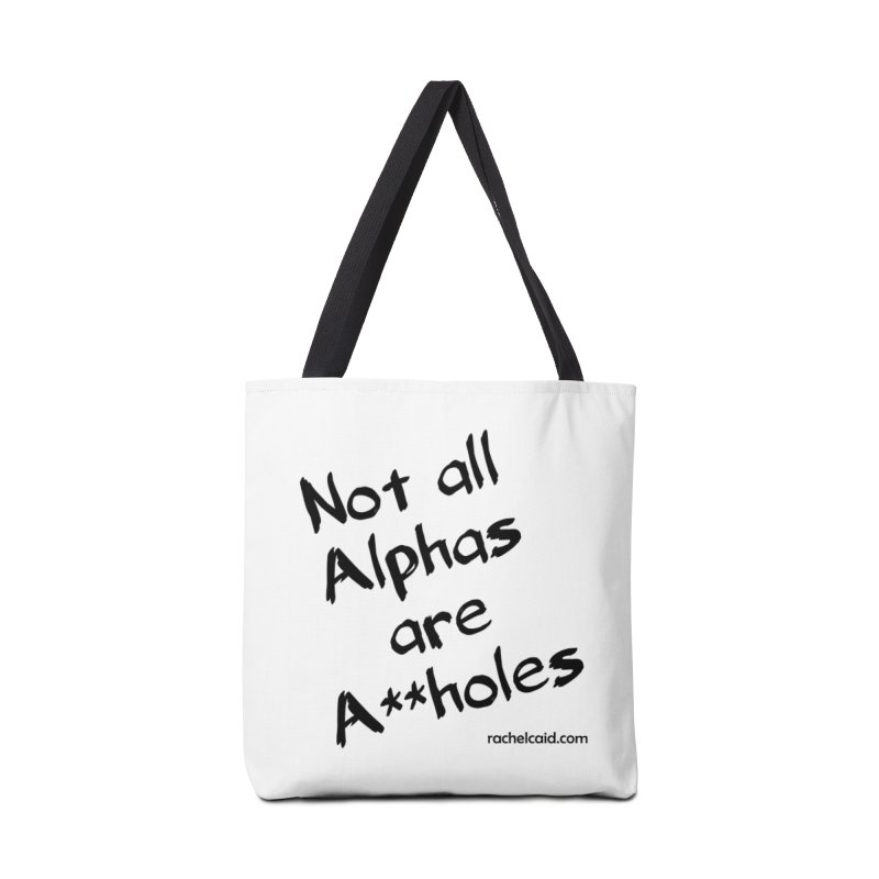 Alphas - Black Ink Accessories Bag by Rachel Caid