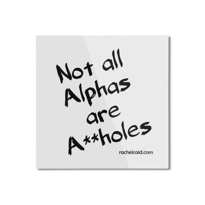 Alphas - Black Ink Home Mounted Aluminum Print by Rachel Caid