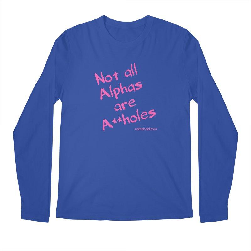 Alphas - Pink Ink Men's Longsleeve T-Shirt by Rachel Caid