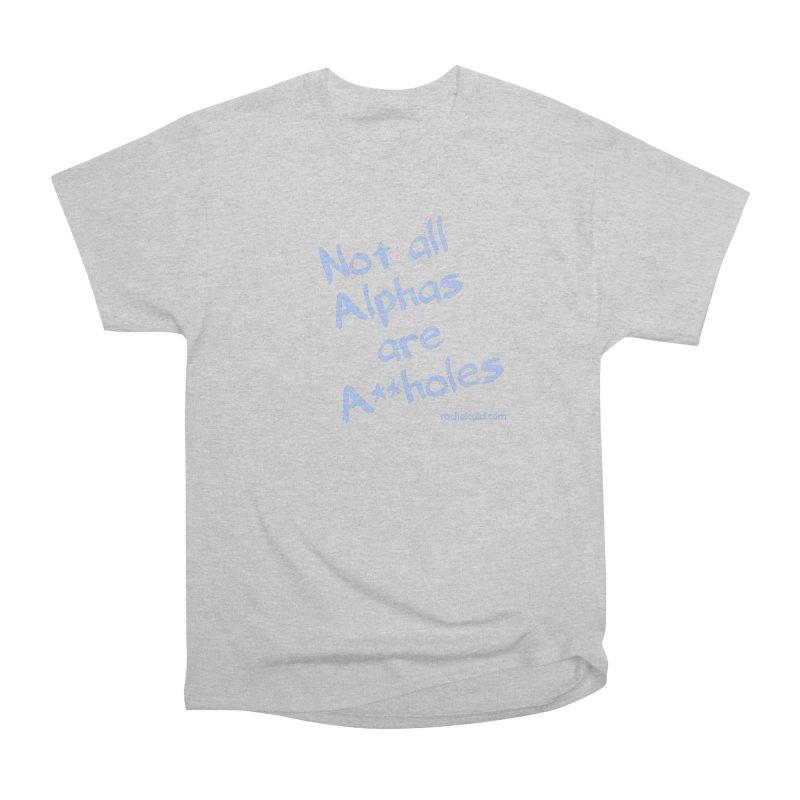 Alphas - Blue Ink Men's T-Shirt by Rachel Caid