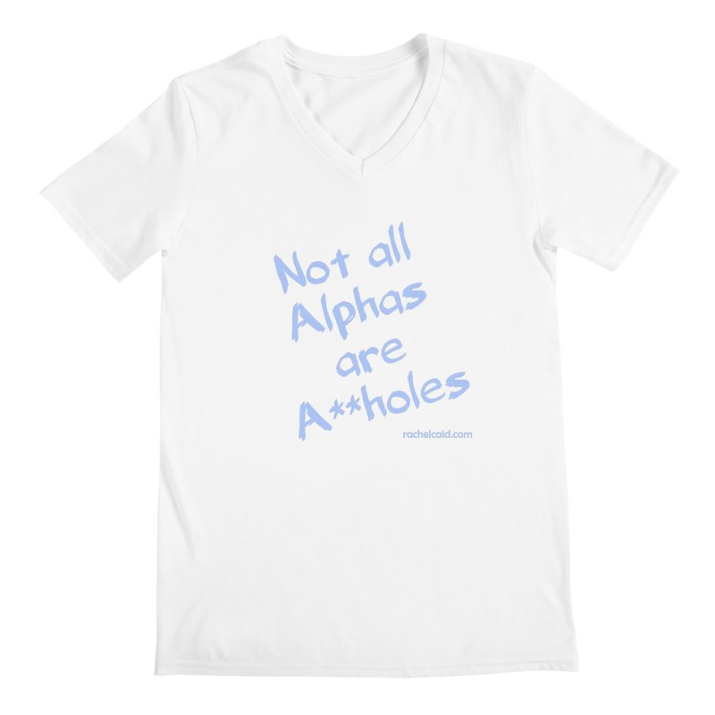 Alphas - Blue Ink Men's V-Neck by Rachel Caid