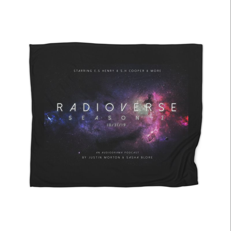 Season 2 Space Poster Landscape Home Blanket by Radioverse Podcast