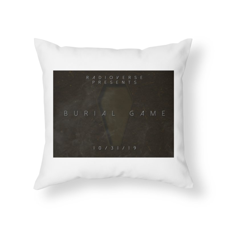 Burial Game Cover Art Home Throw Pillow by Radioverse Podcast