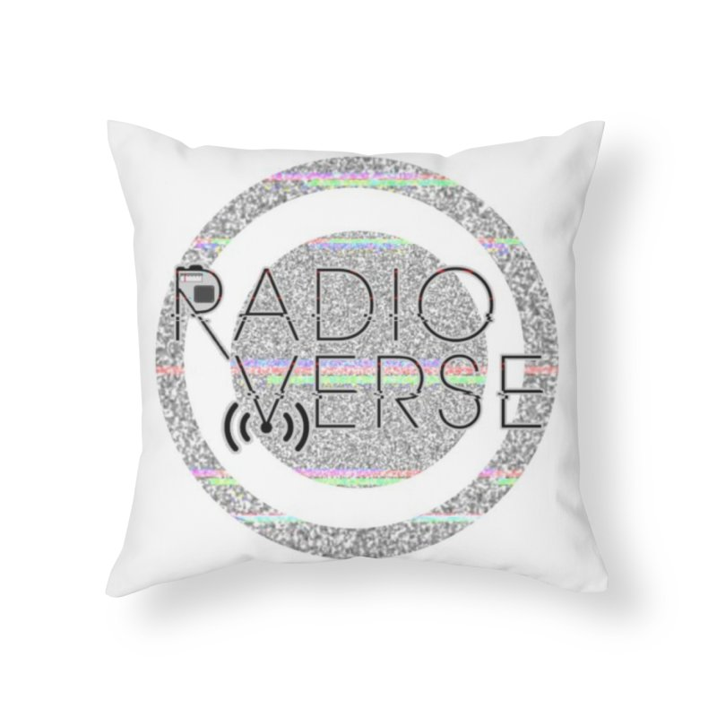 Radioverse Logo Home Throw Pillow by Radioverse Podcast