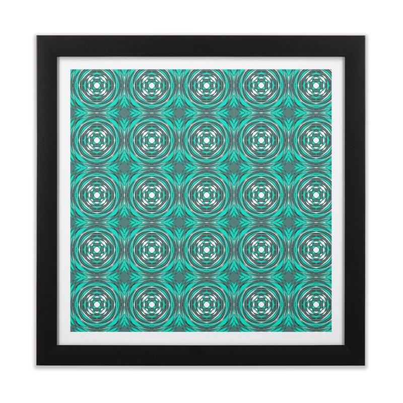 blue patterns in circles Home Framed Fine Art Print by RainOnFoot's Artist Shop