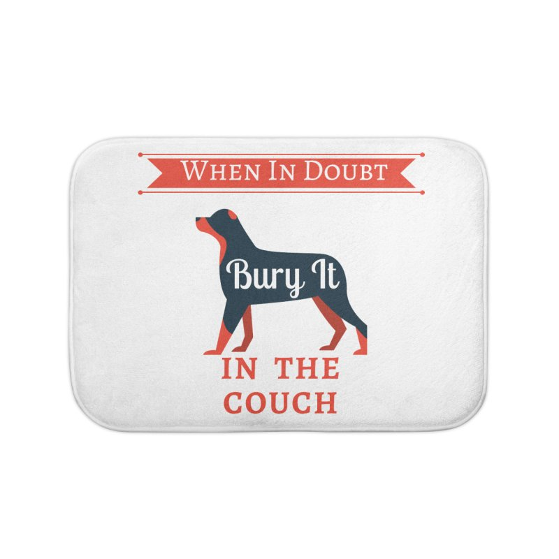 When In Doubt Bury It In The Couch Home Bath Mat by The Outrider Outpost